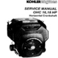 Thumbnail KOHLER OHC 16 18 hp OHC16 OHC18 Service Repair Manual Horizontal Crankshaft