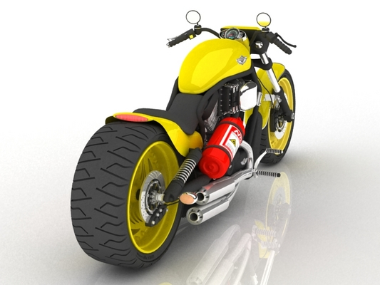 Product picture Detailed 3D MODEL cg Harley Davidson Motorbike 3ds MAX vray