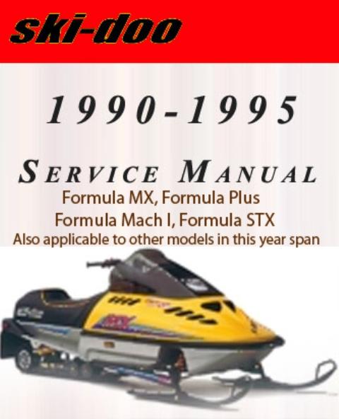 Product picture All Ski Doo Service Repair Manual 1990 1991 1992 1993 1994 1995 Formula Snowmobile