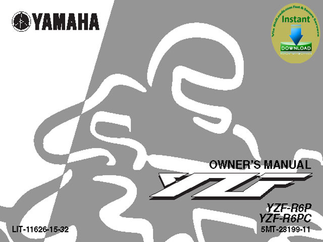 Product picture Yamaha_YZF_R6P_R6PC_owner_Guide& Service_Repair_manual