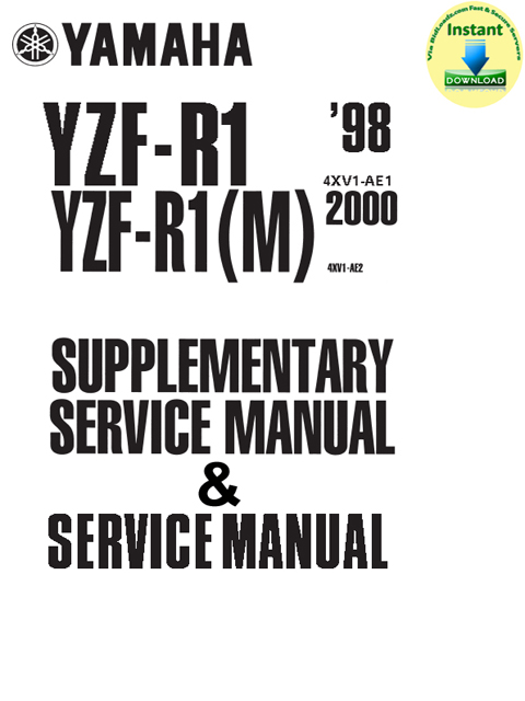 Product picture Yamaha_YZFR1_1998_Service_Manual &  YZF-R1(M)_2000_Supplementary_Service_Manual