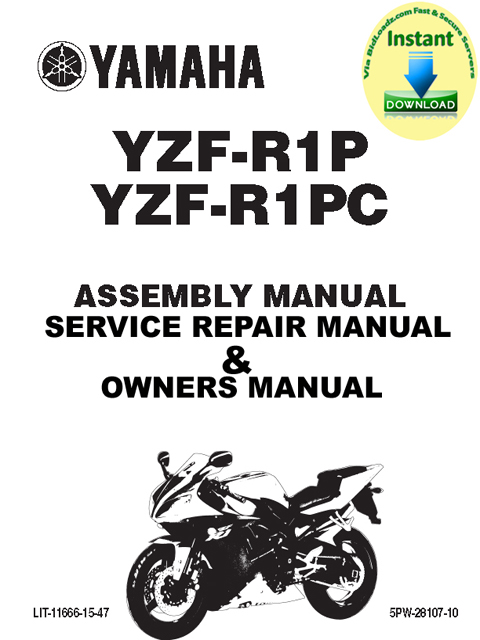Product picture Yamaha_YZFR1P_YZFR1PC_2002_Service_Manual &_YZF-R1P(C)_Assembly_Manual & user Guide